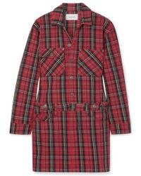 Current/Elliott Mini-robe En Jean Tartan