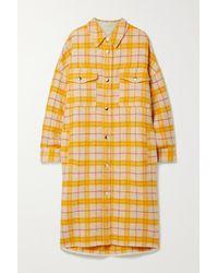 Étoile Isabel Marant Fontia Oversized Checked Wool-blend Flannel Coat - Multicolour