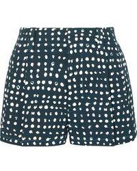 Marni Polka-dot Cotton-poplin Shorts - Blue