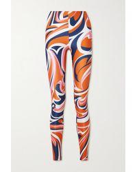 Emilio Pucci Stretch-leggings Mit Print - Orange