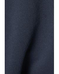 Nili Lotan Austin Cotton-jersey Shorts - Blue