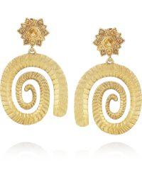 Sophia Kokosalaki - Goldplated Silver Spiral Earrings - Lyst