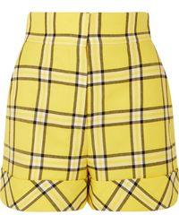 Sara Battaglia - Checked Wool Shorts - Lyst