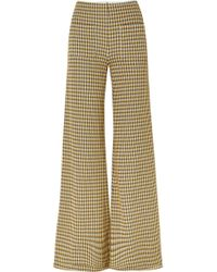 Hellessy - Luc Houndstooth Tweed Wide-leg Trousers - Lyst