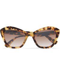 802ecbd59fe0 Miu Miu - Cat-eye Tortoiseshell Acetate Sunglasses Tortoiseshell One Size -  Lyst