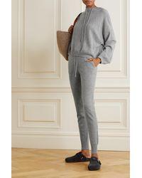Loulou Studio Maddalena Cashmere Track Pants - Grey