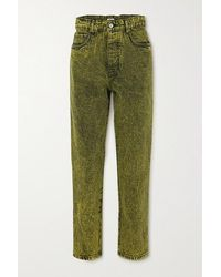 Miu Miu Acid-wash Denim Jeans - Green
