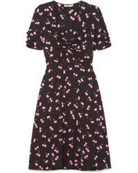 Miu Miu - Printed Crepe Dress - Lyst
