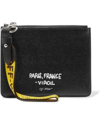 Off-White c/o Virgil Abloh - Printed Textured-leather Pouch - Lyst
