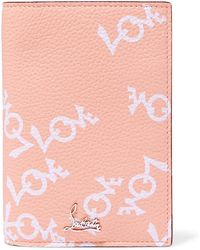Christian Louboutin - Loubipass Printed Textured-leather Passport Cover - Lyst