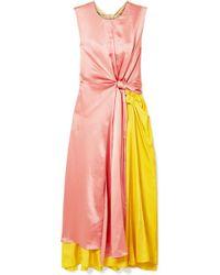 ROKSANDA - Nyimi Color-block Silk Midi Dress - Lyst