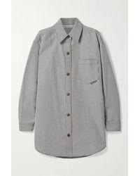 Alexander Wang Oversized Houndstooth Wool-blend Jacket - Black