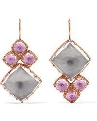 Larkspur & Hawk - Sadie Cluster Rose Gold-dipped Quartz Earrings - Lyst