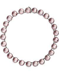 Larkspur & Hawk - Olivia Button Oxidized Sterling Silver Topaz Necklace - Lyst