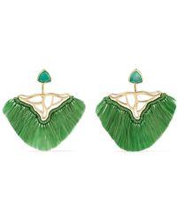 Katerina Makriyianni - Gold-plated, Quartz And Agate Earrings - Lyst