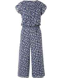 MICHAEL Michael Kors - Pleated Floral-print Georgette Jumpsuit - Lyst