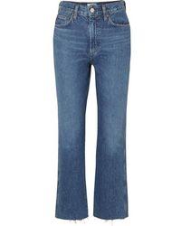 Agolde Jean Évasé Raccourci Taille Haute En Coton Biologique Pinch Waist - Bleu