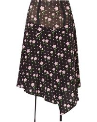 Sandy Liang - Norman Floral-print Silk Crepe De Chine Skirt - Lyst