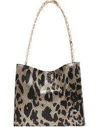 Paco Rabanne - Icon Leopard-print Chainmail Shoulder Bag - Lyst