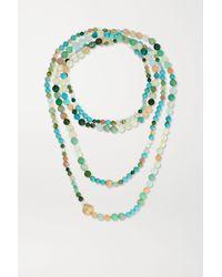 Ole Lynggaard Copenhagen Nature 18-karat Gold Multi-stone Beaded Necklace - Metallic