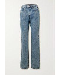 FRAME Le Jane High-rise Straight-leg Jeans - Blue