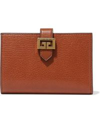 Givenchy Gv3 Textured-leather Wallet - Brown