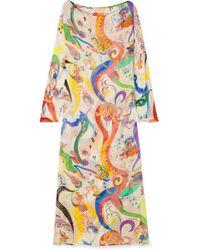 Etro - Nashi Printed Silk-chiffon Maxi Dress - Lyst