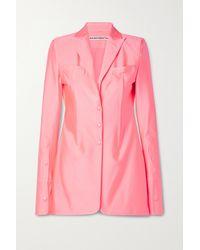 Alexander Wang Neon Stretch-jersey Blazer - Pink