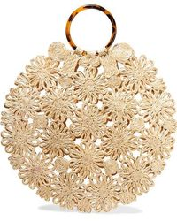 Kayu + Net Sustain Hollie Resin And Crocheted Straw Tote - Natural