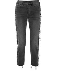 3x1 - W3 Cora Cropped Distressed High-rise Straight-leg Jeans - Lyst