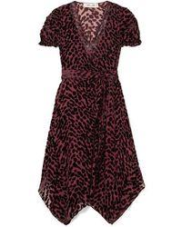 Diane von Furstenberg Katherine Asymmetrisches Wickelkleid Aus Devoré-chiffon - Mehrfarbig