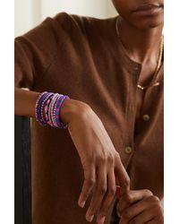 Roxanne Assoulin Colour Therapy Set Aus Acht Armbändern Mit Emaille Und Goldfarbenen Details - Lila