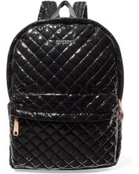 MZ Wallace - Metro Leather-trimmed Quilted Vinyl Backpack - Lyst