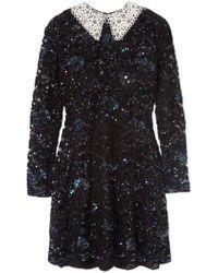 Ashish | Wednesday Embellished Corded Lace Mini Dress | Lyst