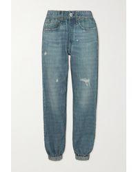 Rag & Bone Pantalon De Survêtement En Jersey De Coton Imprimé Miramar - Bleu