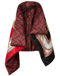 Burberry - Printed Mulberry Silk-satin Cape - Lyst