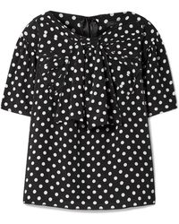 Marc Jacobs - Polka-dot Silk-georgette Blouse - Lyst