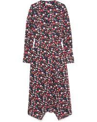 Equipment - Neema Wrap-effect Floral-print Crepe De Chine Dress - Lyst