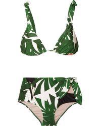 Adriana Degreas - Bedruckter Triangel-bikini - Lyst