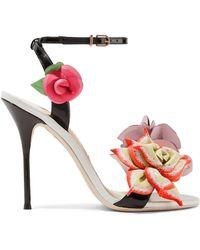 Sophia Webster - Jumbo Lilico Floral-appliquéd Leather Sandals - Lyst
