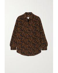 Matteau + Net Sustain Printed Silk Shirt - Brown