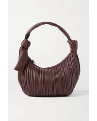 Neous Neptune Pleated Leather Hobo Bag - Brown