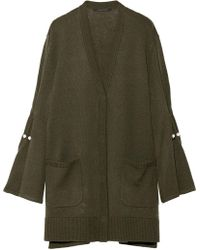 Mother Of Pearl - Maudi Bell-sleeve Embellished Wool-blend Cardigan - Lyst
