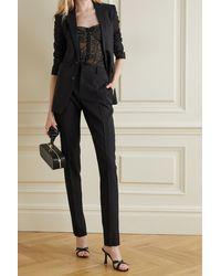 Cami NYC The Bianca Silk Satin-trimmed Stretch-lace Bodysuit - Black
