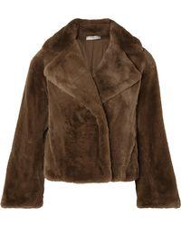 Vince - Faux Fur Coat - Lyst