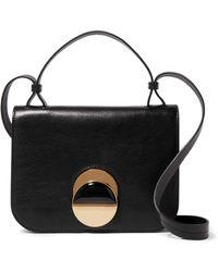 Marni Pois Leather Shoulder Bag - Black