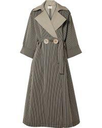 Simon Miller - Casco Oversized Striped Cotton-blend Coat - Lyst