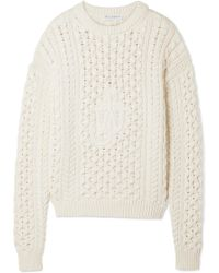 J.W.Anderson - Cable-knit Cotton-blend Sweater - Lyst