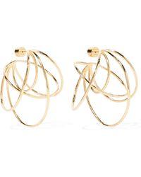 Jennifer Fisher - Haywire Gold-plated Hoop Earrings - Lyst