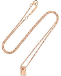 Repossi - Antifer 18-karat Rose Gold Necklace - Lyst